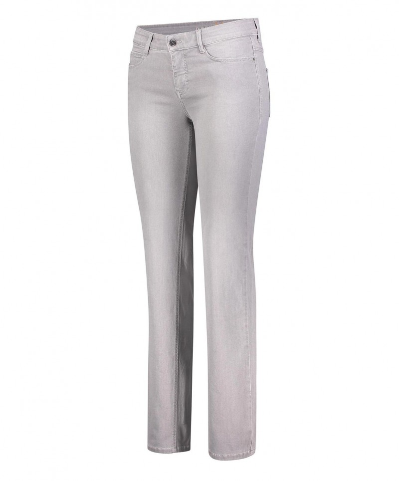 Mac Dream Jeans in Siver Grey Used mit gerader Silhouette - F01