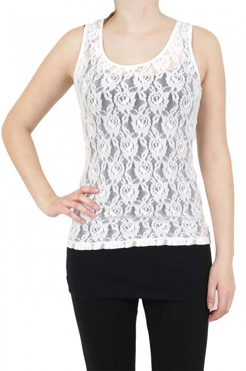 Vero Moda Lilly Lace - Top - Snow White vv