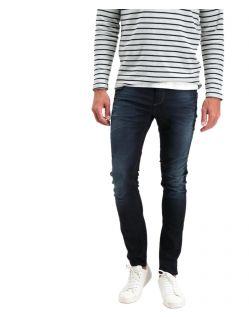 Garcia - Schmale Jeans in dunkler Waschung mit Abnutzungen
