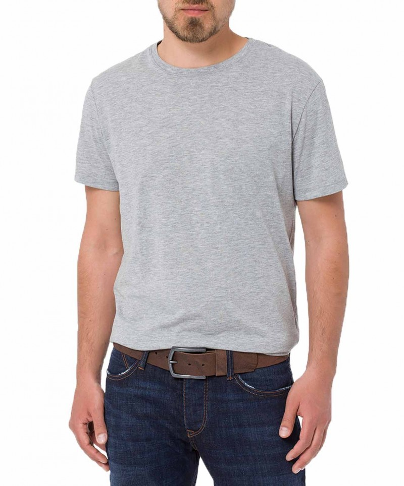 Cross Jeans Gürtel - Strukturleder - Dunkelbraun