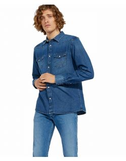 Wrangler Westernhemd im Denim Used Look