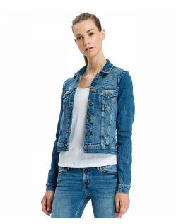 Cross Damen Jeansjacke in Blue Used