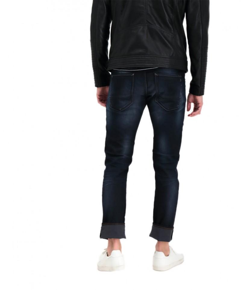 Garcia Russo - dunkelblaue Tapered Jeans mit Abnutzungen