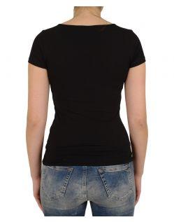 VERO MODA T-Shirt - Soft U-NECK - Schwarz - Hinten
