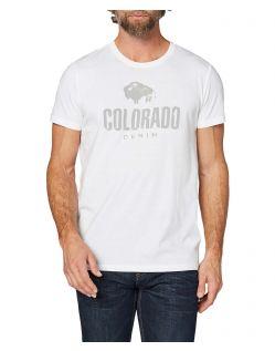 Colorado Cole - weißes T-Shirt mit retro Logo Print
