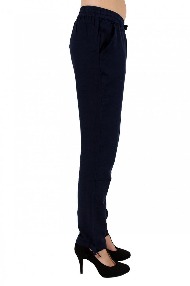 Vero Moda Alana - Leinenhose - Dark Navy