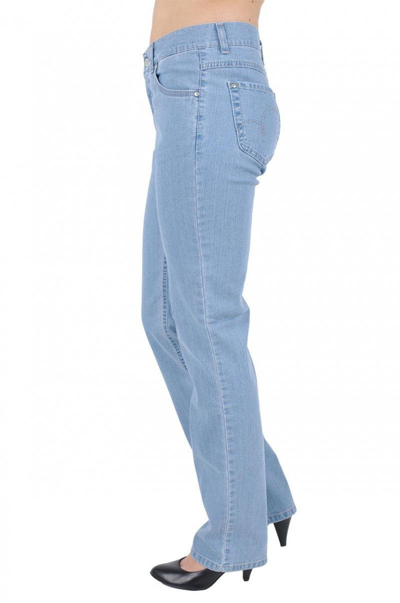 Angels Cici Jeans - Straight Leg - Bleached