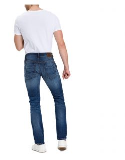 Cross Johnny - Slim Fit Jeans mit geradem Bein in mittelblau - Hinten