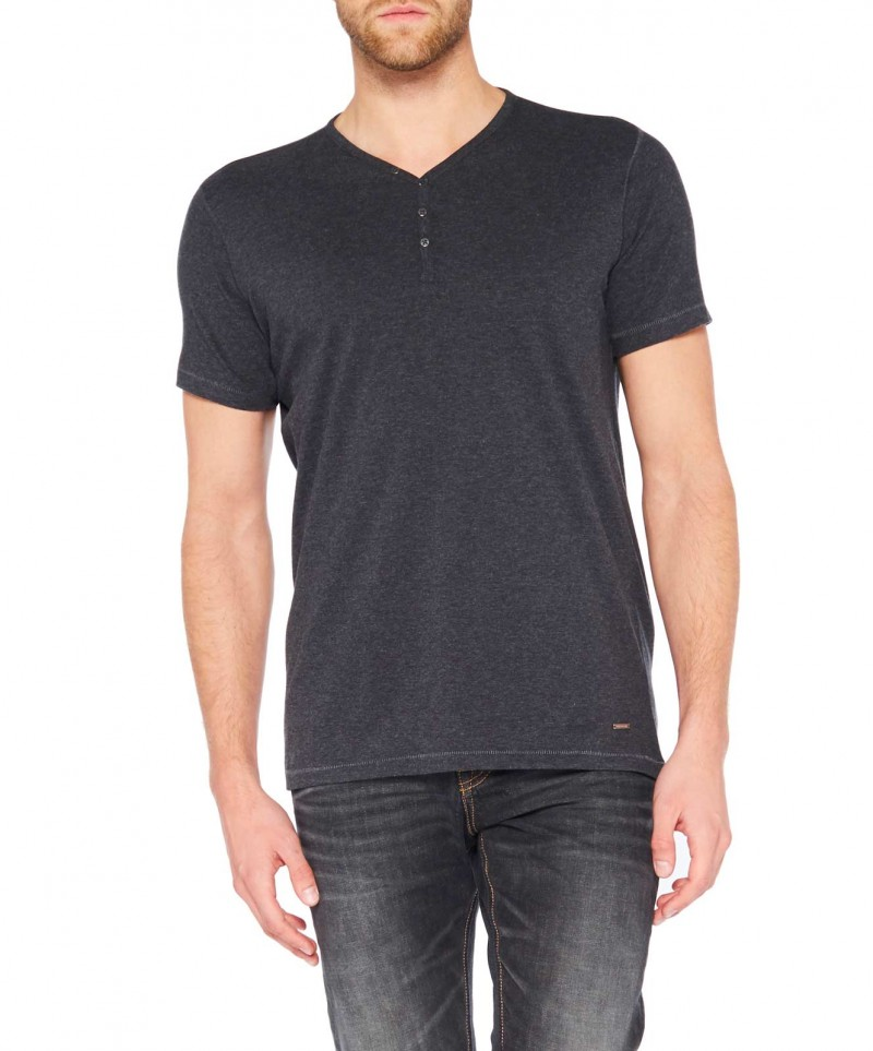 Colorado Wassily - V-Neck T-Shirt - Anthra Mel