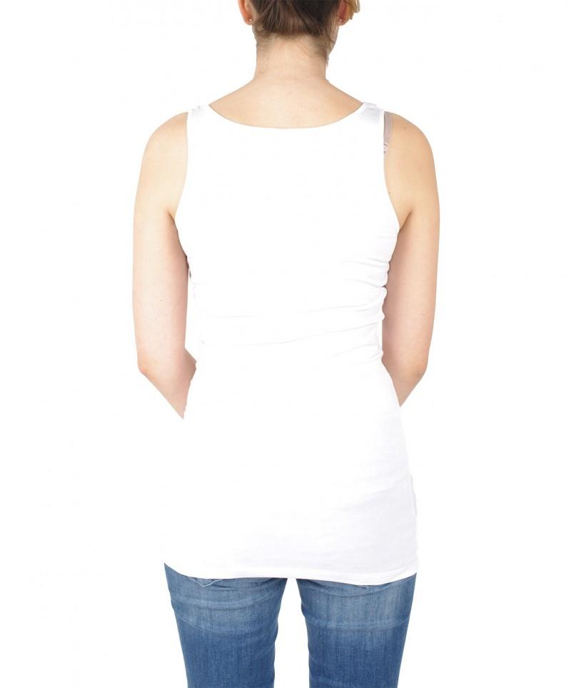 Vero Moda Maxi - Langes Trägershirt in Weiß
