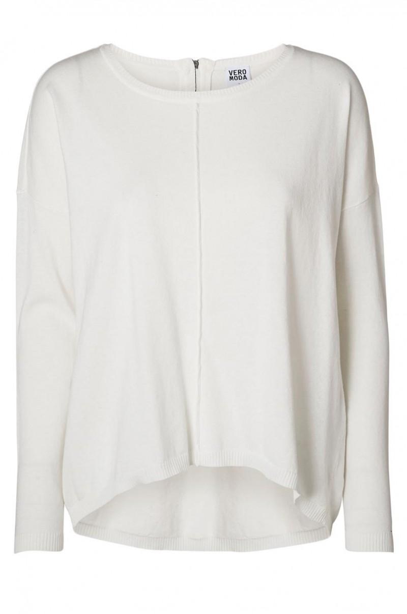 vero moda pullover marco zipper white