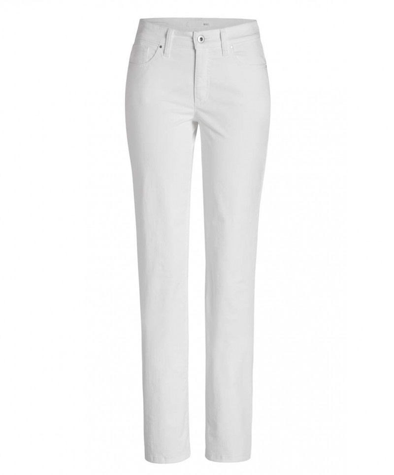 Mac Melanie Hose - Colour Denim - White