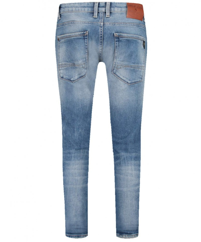 Garcia Russo – Tapered Jeans in Jeansblauer Waschung