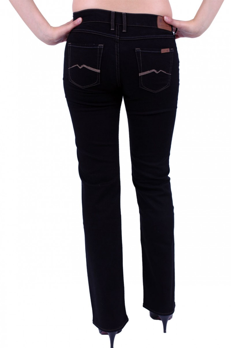 Mustang Girls Oregon Jeans - Slim Leg - Midnight Black v