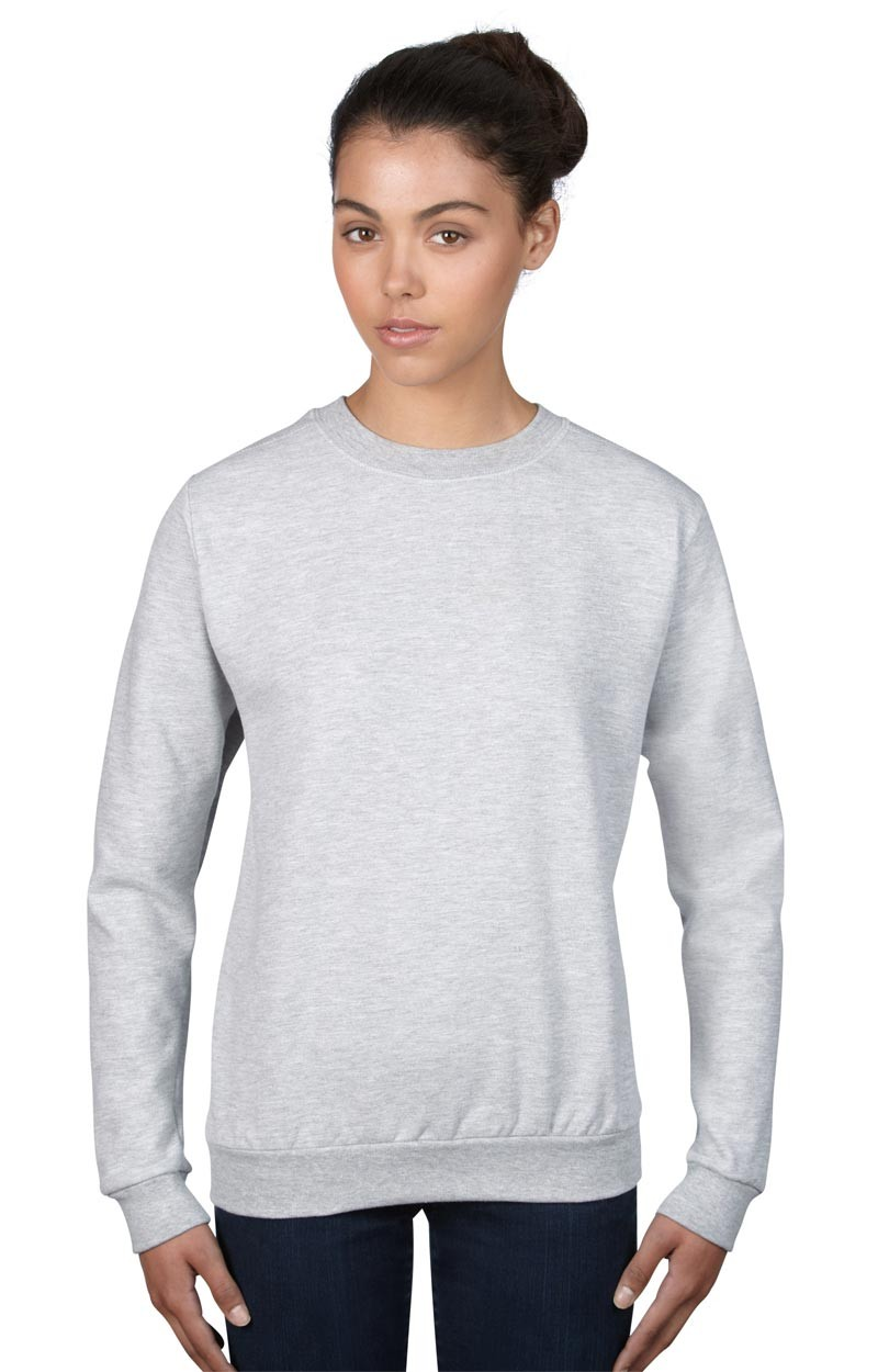 Damen Anvil Knitwear - Sweatshirt Rundhals - Heather Grey