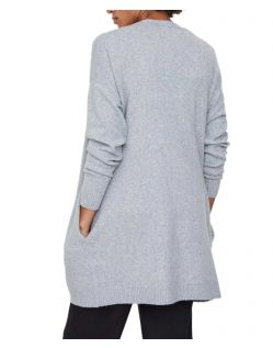 Vero Moda Doffy - Strick Cardigan in Grau - Hinten