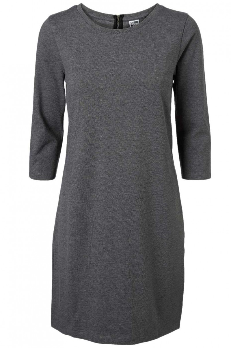 Vero Moda Kleid - SKY Short Dress - Grey Melange