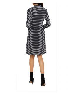 Vero Moda Seda - Minikleid aus Bio Baumwolle mit Streifenmuster - Hinten