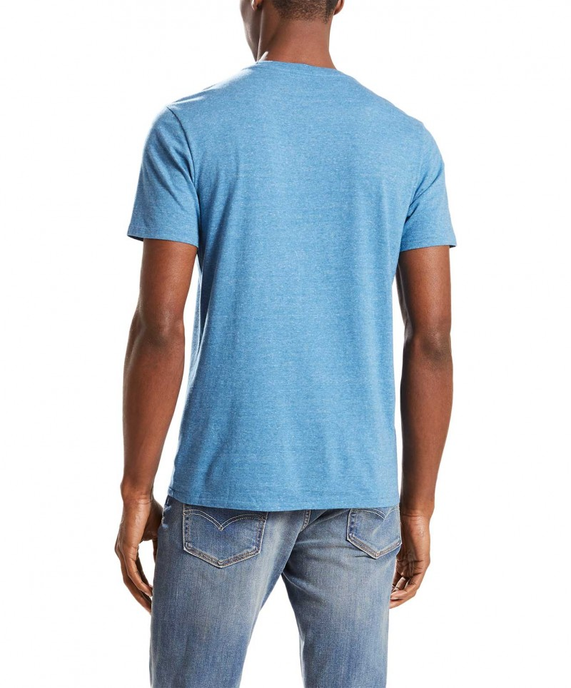 LEVI'S T-Shirt - Neck Graphic Set - Dark Blue Tri-Blend