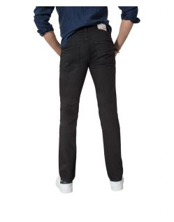 HIS STANTON - Straight Fit Jeans - Pure Black - Hinten