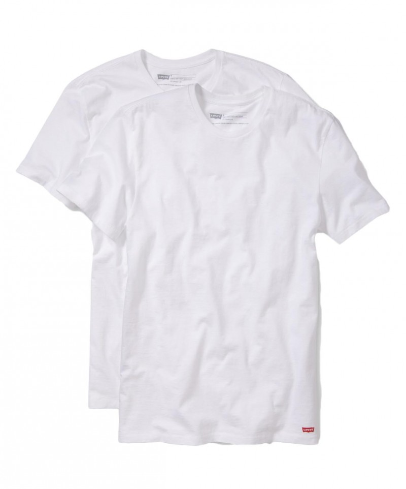 Levis T-Shirt - 2 Pack Crew Tee - Slim Fit - weiß