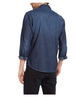 Wrangler Jeanshemd - Slim Fit - Dark Indigo - Hinten