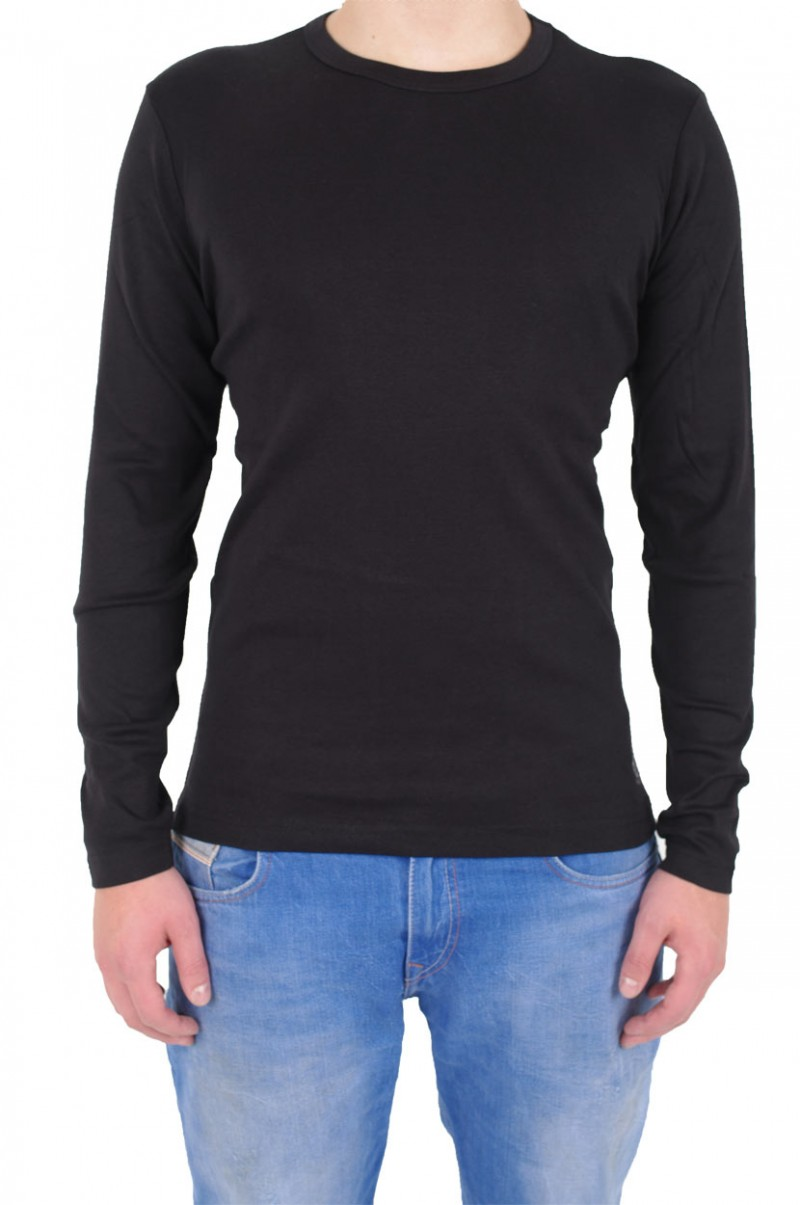 Gin Tonic Basic Longsleeve - Tight Fit - black vorn