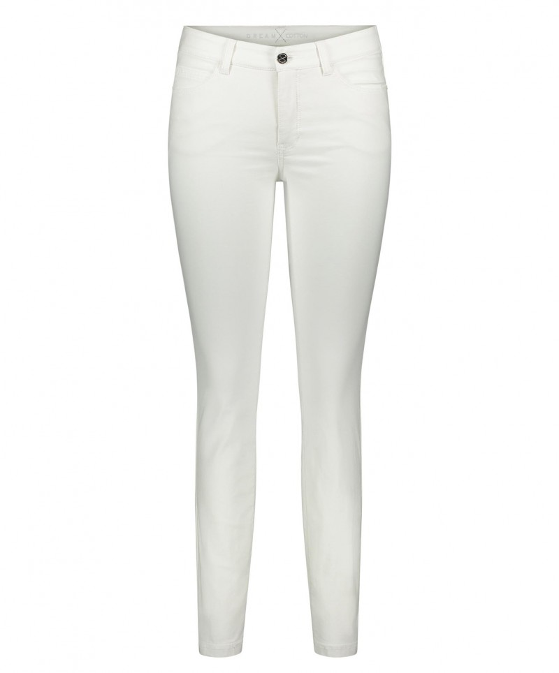 Mac Dream Skinny Cotton - Weiss