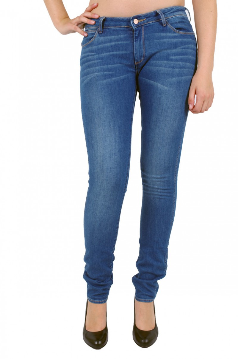 Wrangler Courtney Skinny Jeans - Low Waist - Cobalt