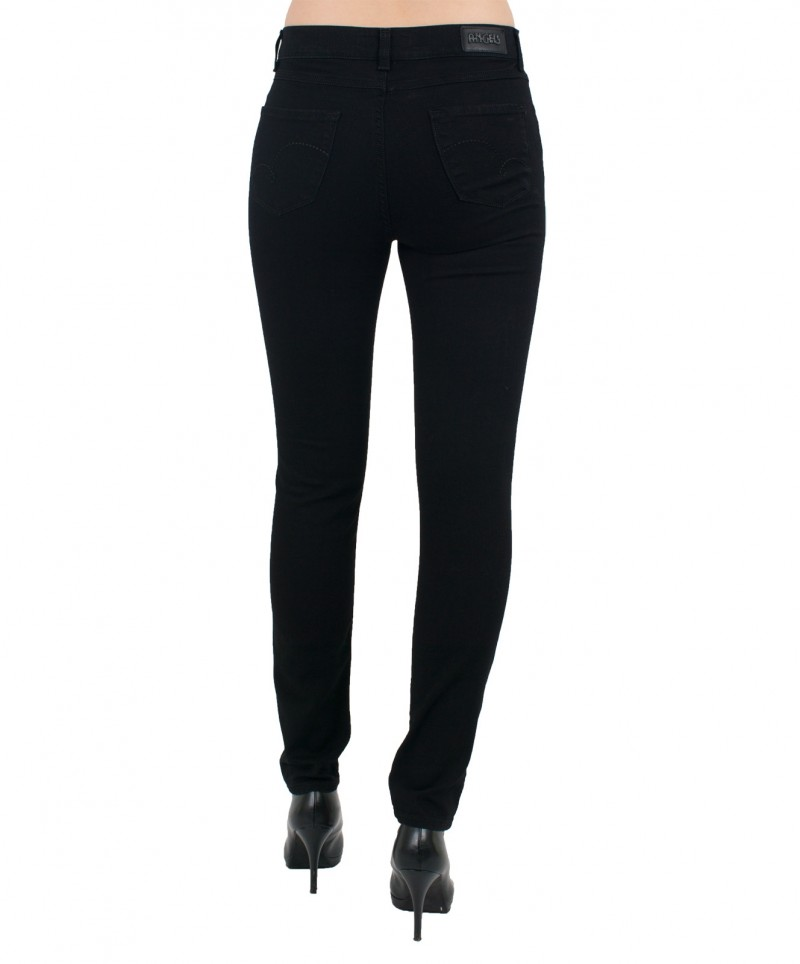 Angels Skinny Jeans - Regular Rise - Jet Black