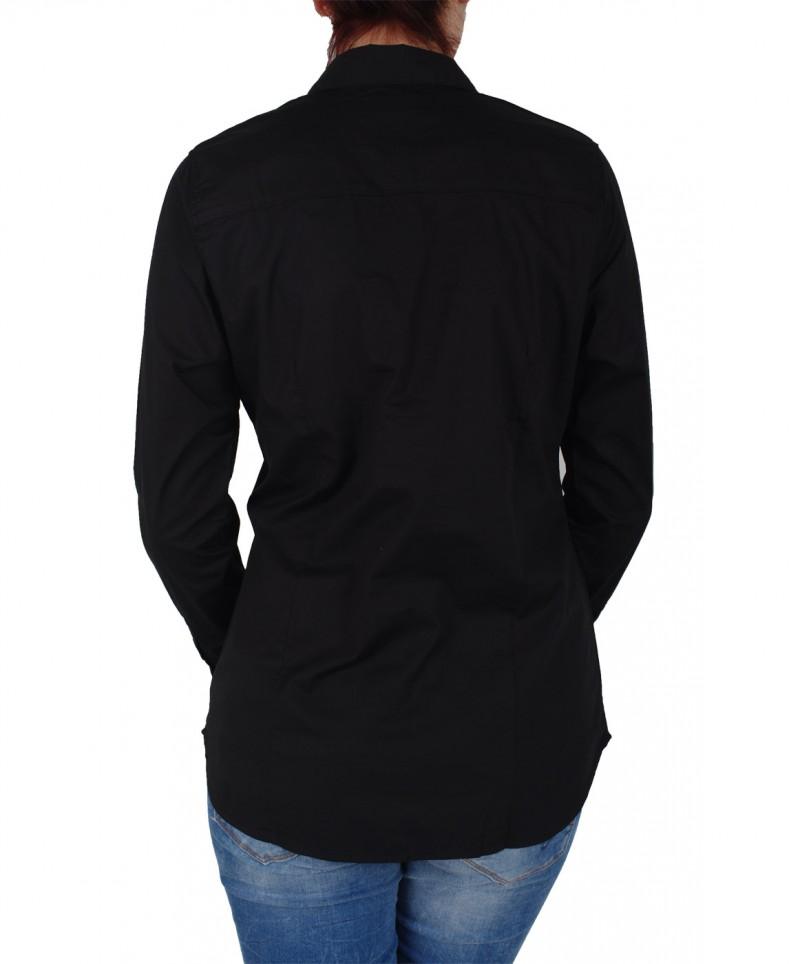 VERO MODA CELEB - Spitzen Langarmbluse - Black
