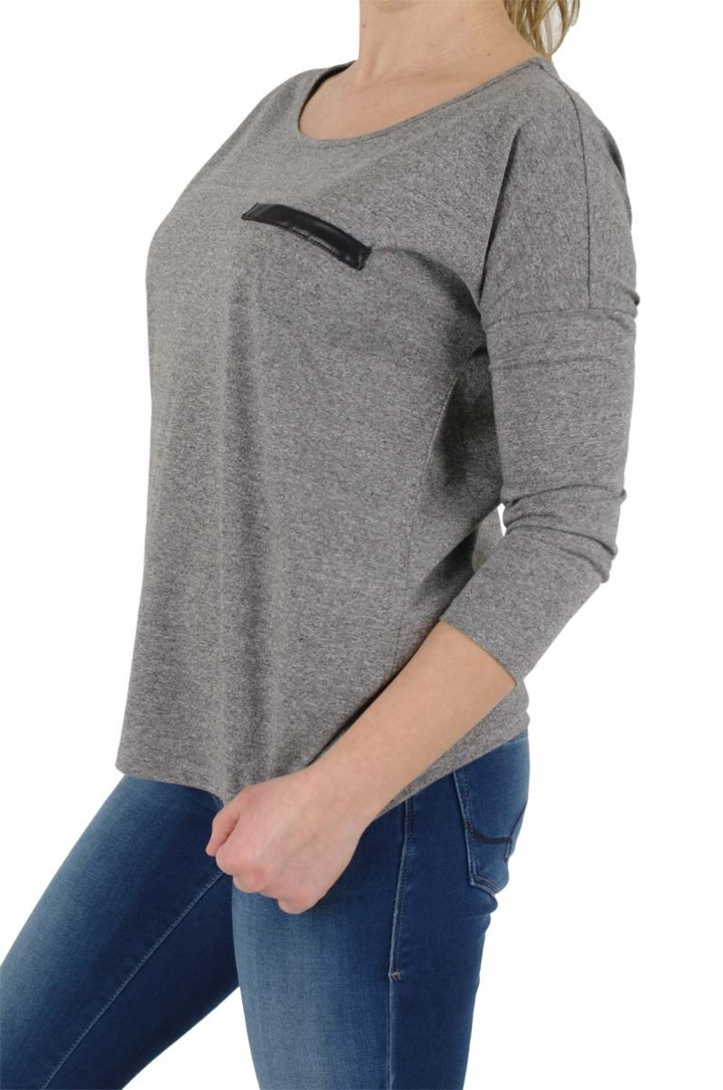Vero Moda - Shirt Jenny 3/4 Arm - Medium Grey