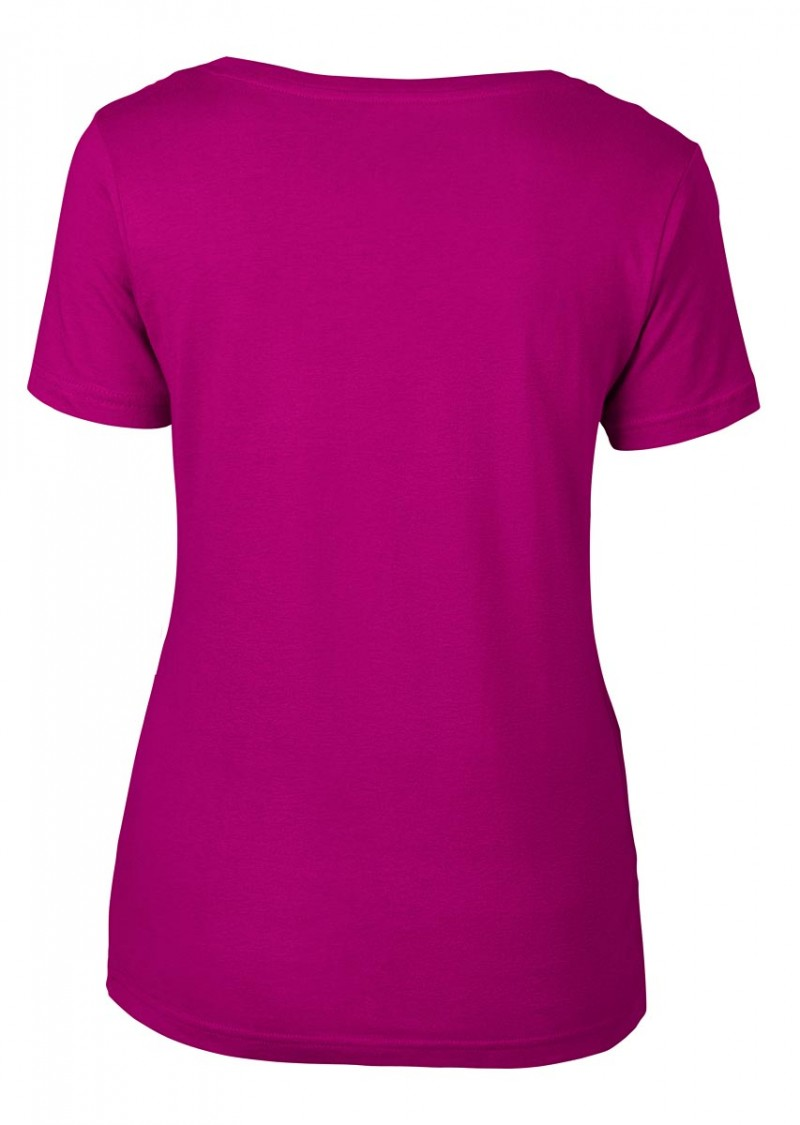 Anvil T-Shirt - Sheer Scoop - Raspberry
