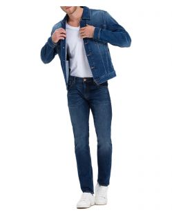 Cross Damien – Gerade Slim-Fit-Jeans in Stone Wash - Vorne