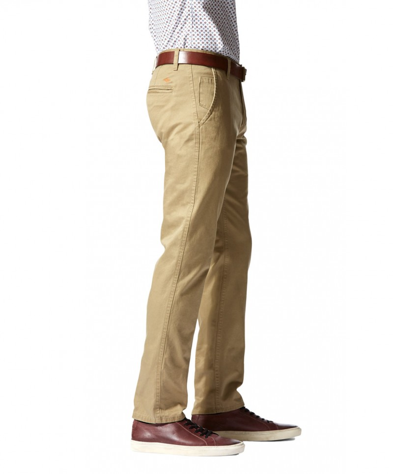 DOCKERS ALPHA - Slim Tarped - New British Khaki
