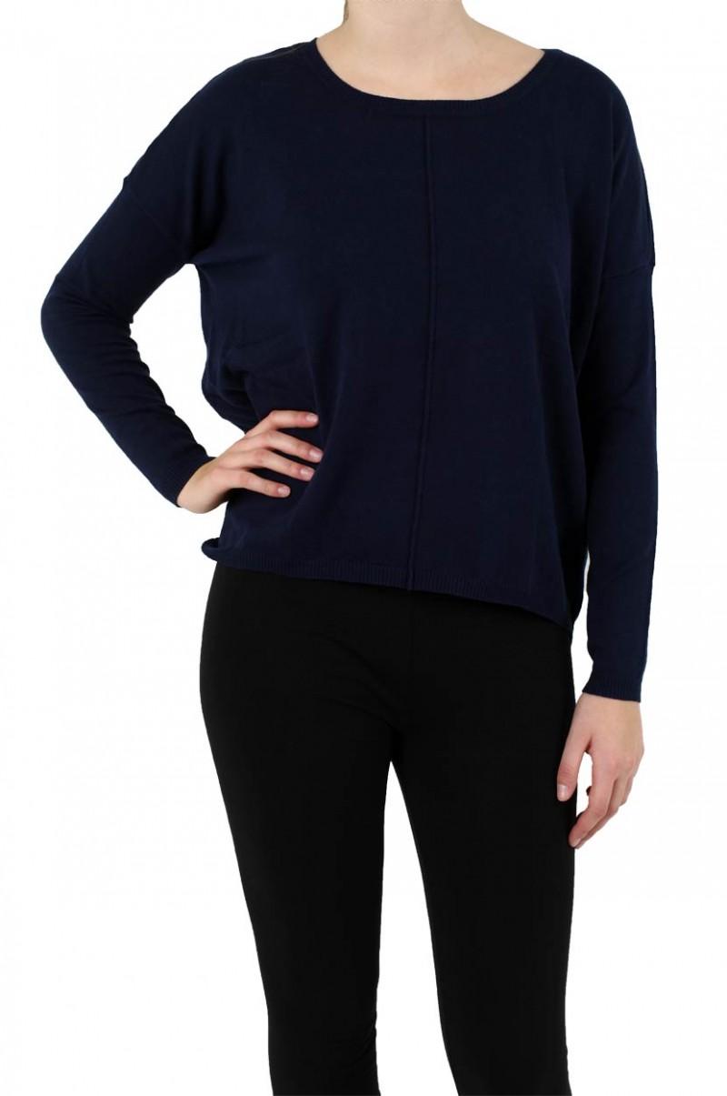 Vero Moda Pullover - Macro Zipper Blouse - Black Iris