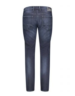 MAC ARNE PIPE - Workout Denim - Blue Black 3D Authentic Wash - Hinten