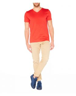 Colorado Joaquim - V-Neck T-Shirt - Aurora Red Mel - Vorne