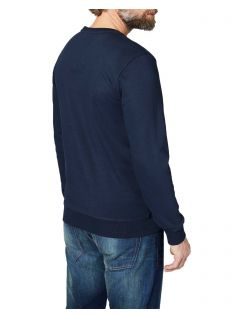 Colorado Denim Olliver – Logo Sweatshirt in dunkelblau - Seite