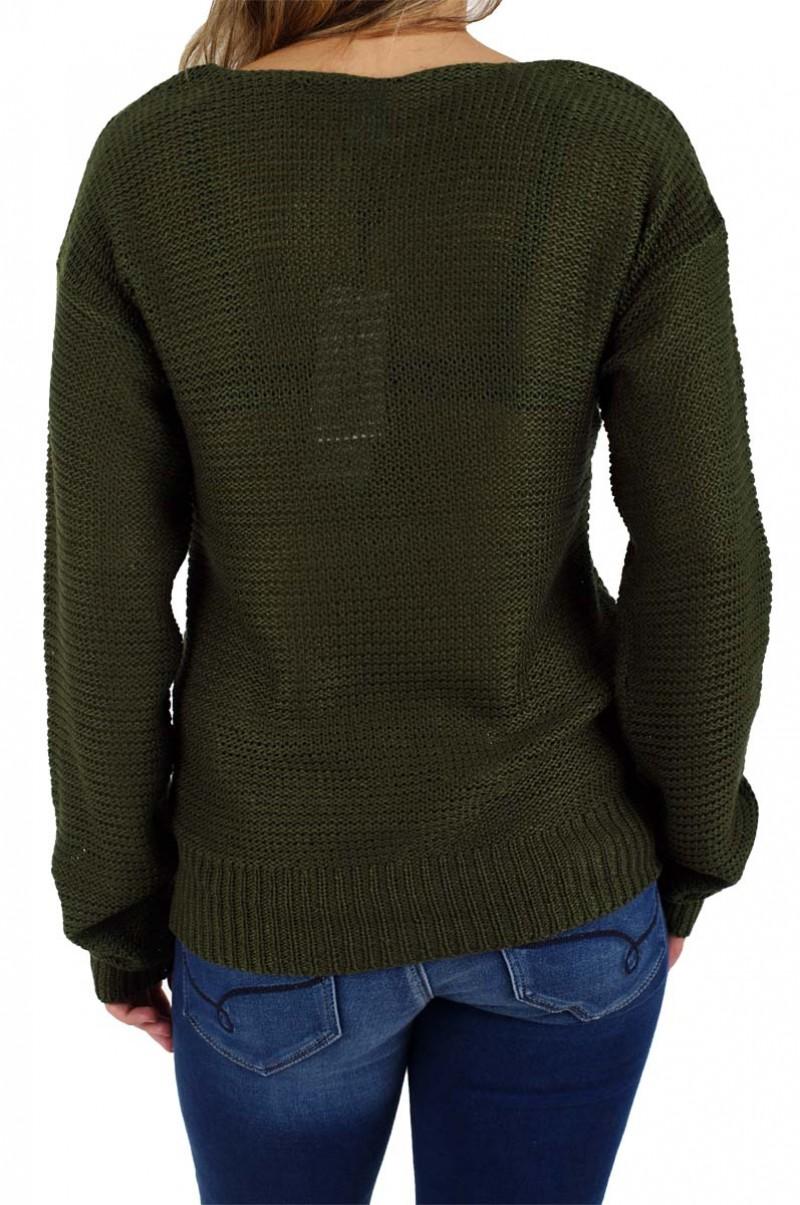 Vero Moda - Strick Pullover Sevilla - Kombu Green