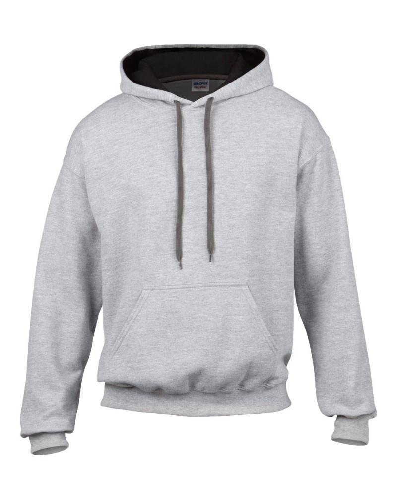 Gildan Sweatshirt - Kontrastkapuze - Sport Grey Black v