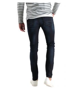 Garcia - Schmale Jeans in dunkler Waschung mit Abnutzungen - Hinten