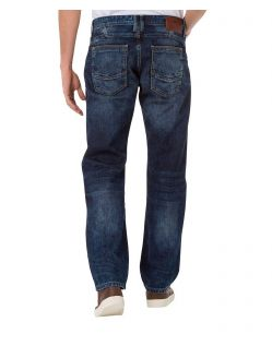 CROSS Jeans Antonio - Slightly Tapered - Extreme Crincle Blue Used - Hinten