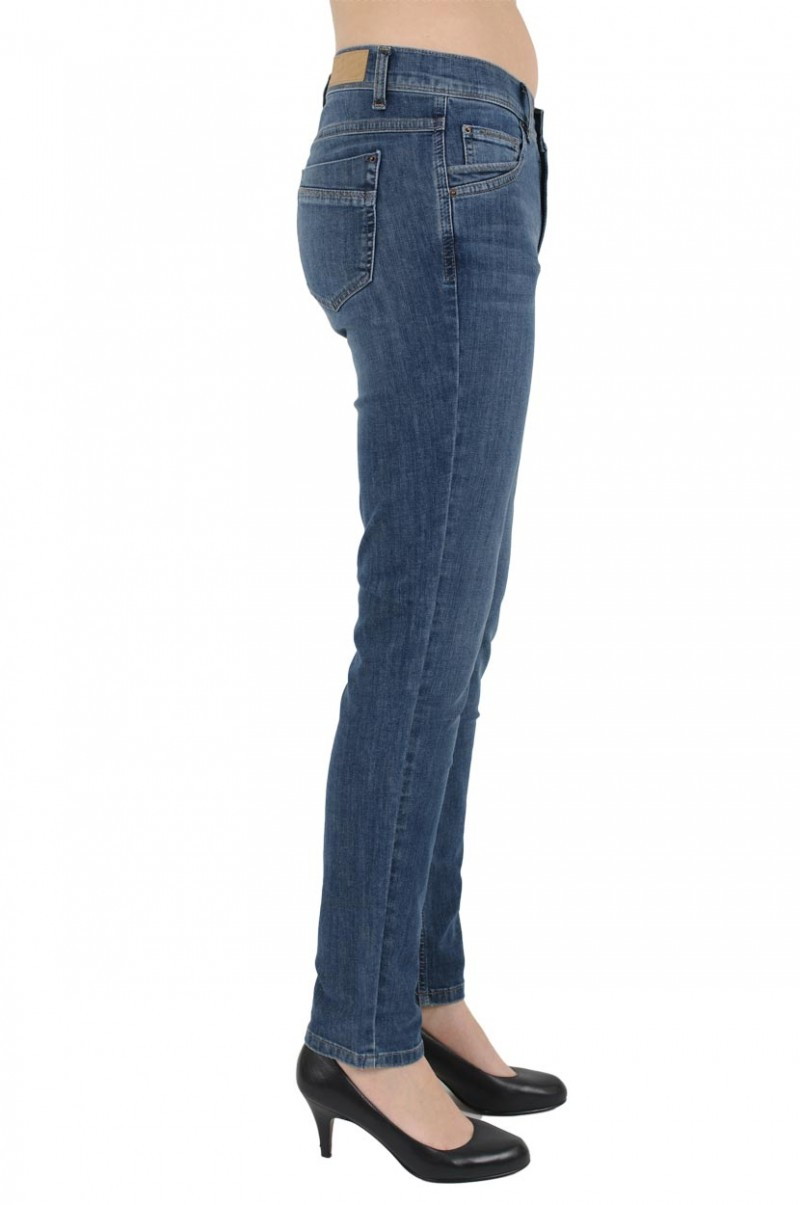 Angels Jeans Doro - Straight Leg - Stone Used Buffi