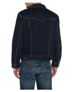Wrangler Jeans Jacke in BlueBlack Relaxed Fit - Hinten