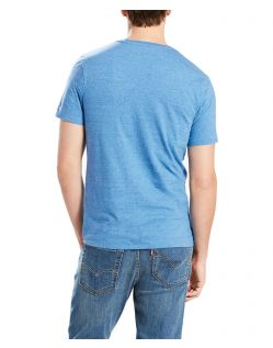 Levi's T-Shirt - Housemark Tee - Dark Blue Tri Blend - Hinten