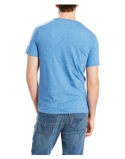Levi's T-Shirt - Housemark Tee - Dark Blue Tri Blend - Hinten