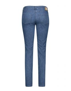 MAC Angela - Slim Fit Jeans - Mid Blue Basic - Hinten