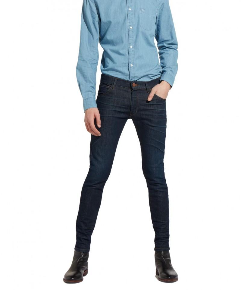 Wrangler Bryson Skinny Jeans mit braunen Nähten