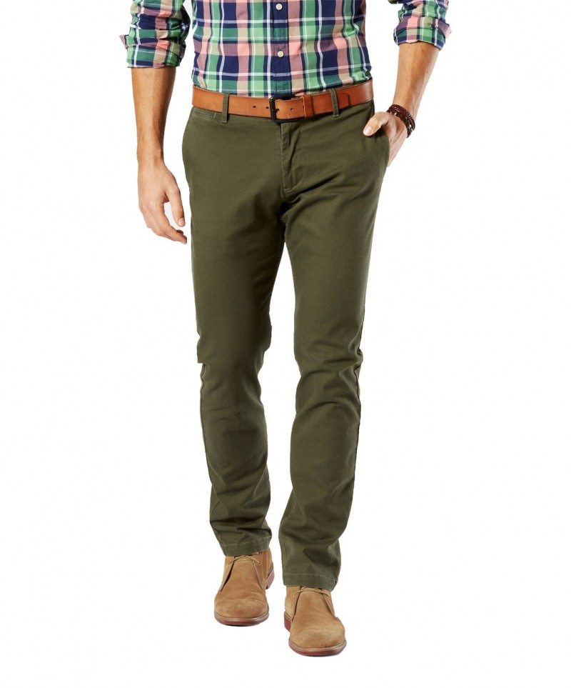 DOCKERS BIC WASHED - Slim Tarped - New British Khaki